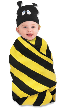 Sozo Buzzing Bumblee Bee Baby Swaddling Blanket And Hat Set