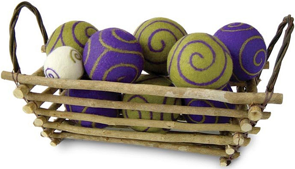 BoHo Bocce with Twig Basket