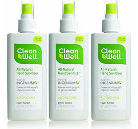 Clean Well Natural Hand Sanitizer Spray