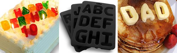 Alphabet Ice Cube Trays