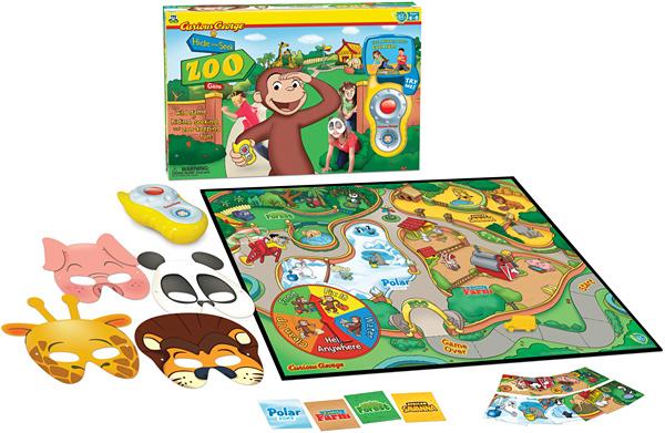 Curious George Hide and Seek Zoo Game