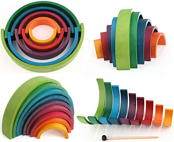 Naef Rainbow Musical Toy & Puzzle
