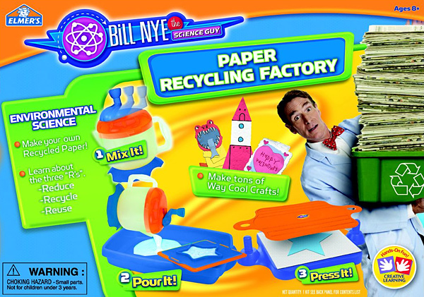 Paper Factory Craft Recycling Educational Kit Bill Nye