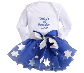 Personalized First Hanukkah Tutu Set