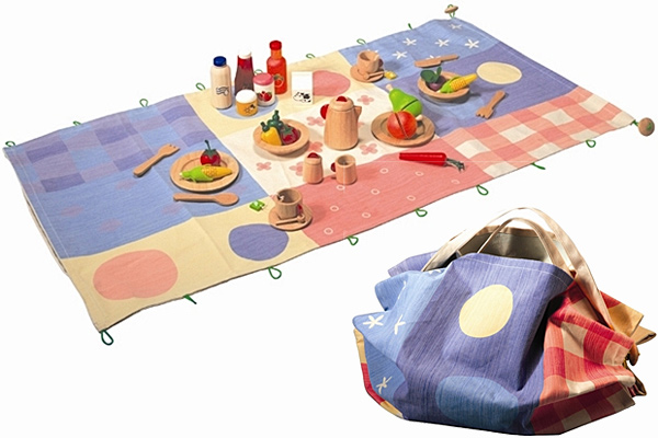 Plan Toys Picnic Play Mat with Accessories