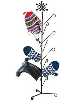 Snowflake Mitten and Boot Drying Tree Tree