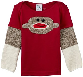 Infant Morfs Sock Sleeve Cheeky Monkey