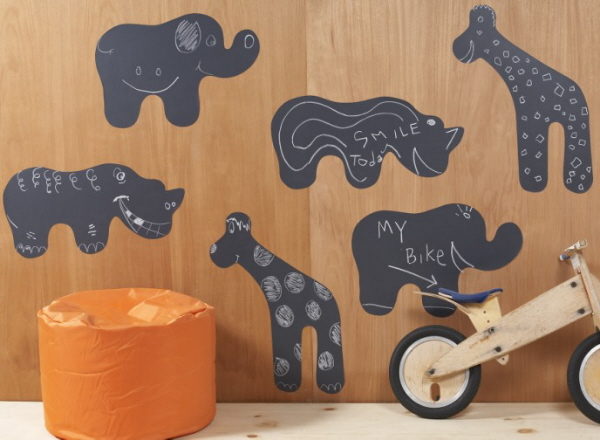 Chalkboard Animal Wall Stickers