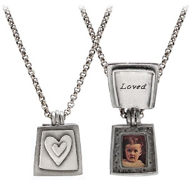 Heart Art Loved Locket