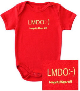 Text Message Baby Organic Onesie