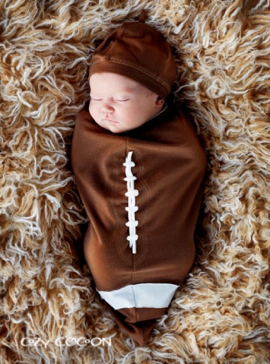 Cozy Cocoon Football Baby Bunting Set