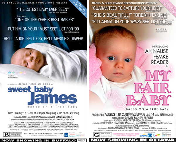 5 Star Baby Movie Poster Birth Announcements