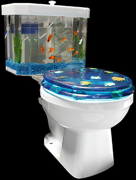 Fish 'n Flush Toilet Tank Aquarium