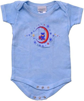Grateful Dead Moon Swing Baby Onesie