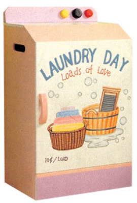 Kids Clothes Hamper - Laundry Day Washer