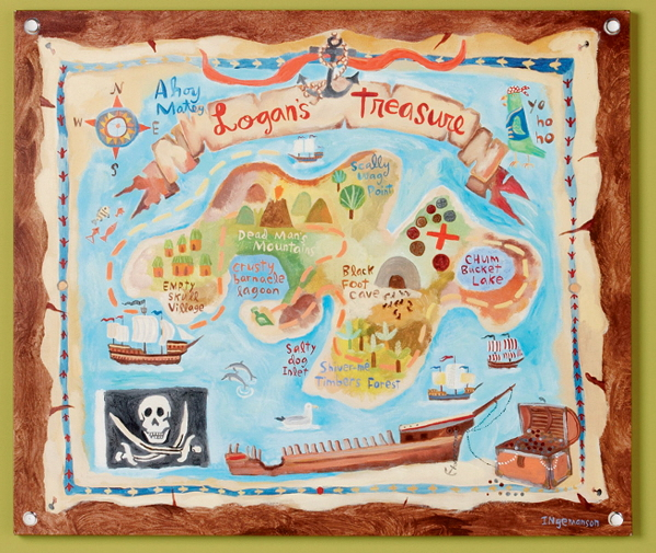 Land of Nod Treasaaaaargh Map Wall Art