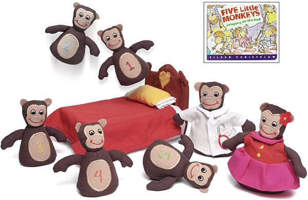 Monkeys on the Bed With Storybook Set