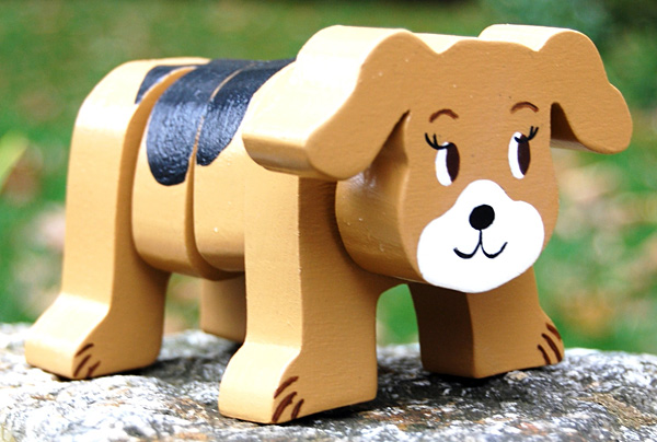 Personalized Stackable Dog Wooden Toy