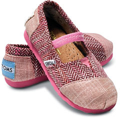 Tiny Toms Herringbone Sparkle Mary Jane Shoes