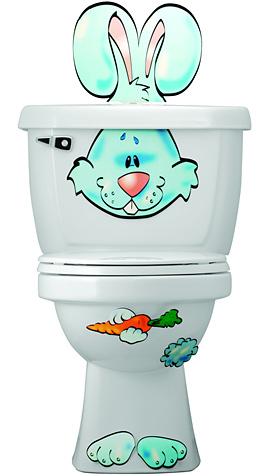 Toilet Buddies Poo P. Bunny