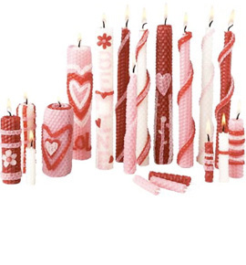 Valentine Candle Rolling Kit