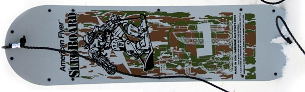 American Flyer Brown Camouflage Sled Board