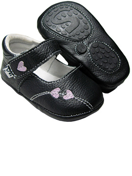 Little Soles - Baby Soles Black Metro Jane Shoes