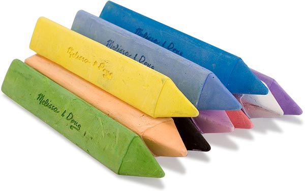 Melissa & Doug Jumbo Triangular Chalk Sticks