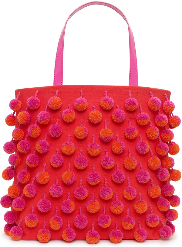 Kate Spade Hand in Hand Pom Pom Tote Bag