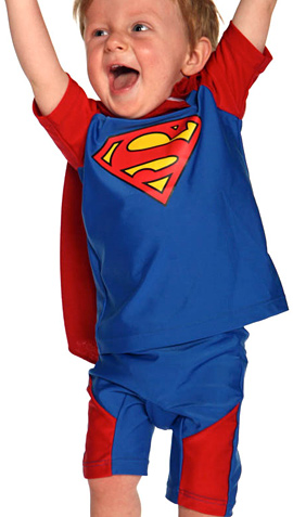 SunSmart UV 2 Piece Superman Outfit