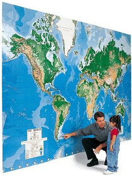 The World's Largest Write On Map Mural
