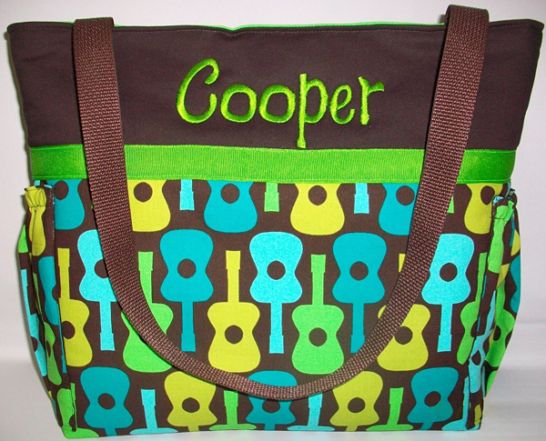 Tweedle Totes Groovy Guitars Diaper Bag