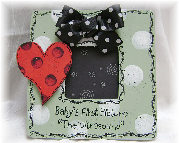 Handpainted Ultrasound Picture Frame