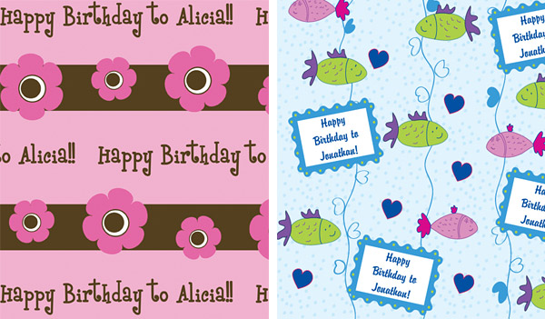 Happy Wrappings Personalized Wrapping Paper