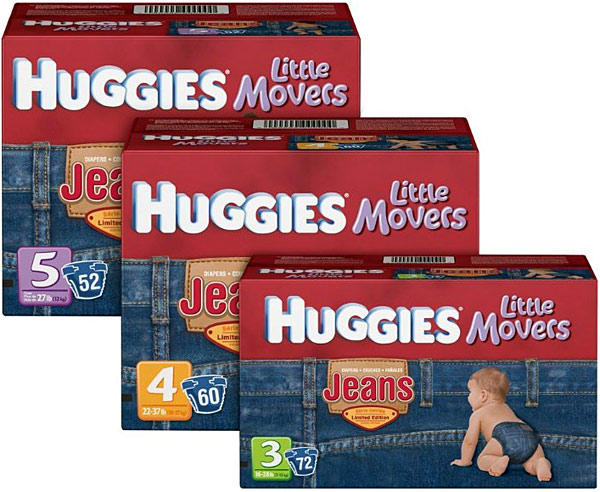 Huggies Little Movers Jeans Collection Diapers