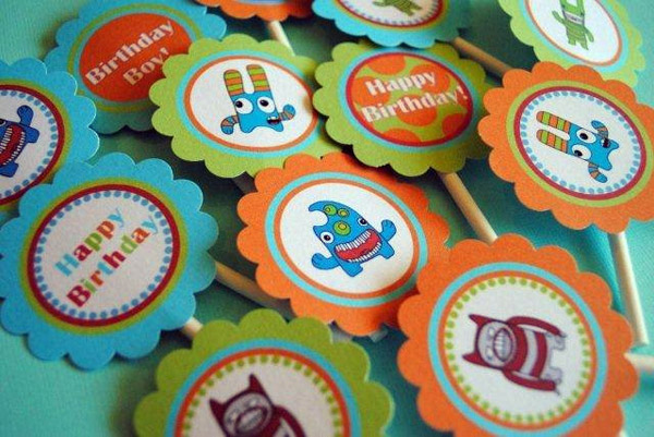 Monster Mania Cupcake Toppers
