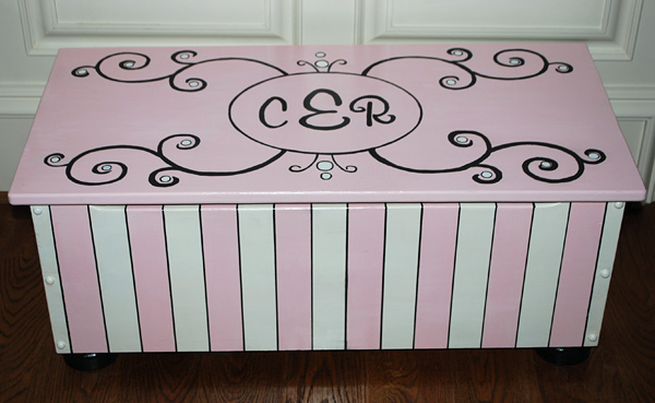 Olivia Grace Designs Monogrammed Toy Chest