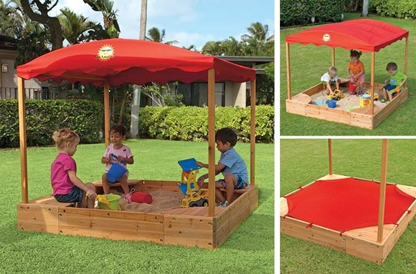 Sun Smarties Sandbox with Canopy