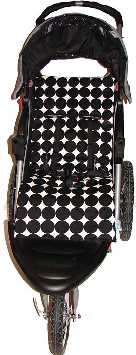 Disco Black Stroller Seat Liner