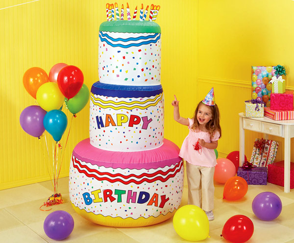 Jumbo Inflatable Birthday Cake
