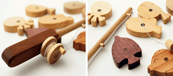 Noted Soopsori Wooden Play Fishing Set