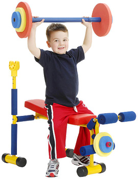 Fun and Fitness Weight Bench for Kids