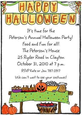 Amy Adele Halloween Party Invitations
