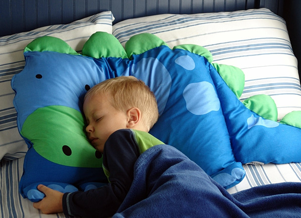 Milo and Gabby Dinosaur Shaped Pillowcase