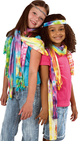 Best Friends Tie Dye Scarves Kit