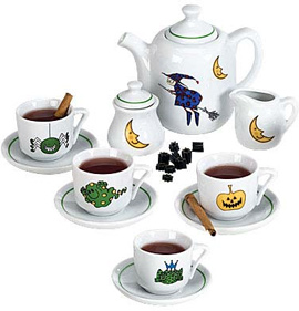 Monstrously Cute Halloween Tea Set