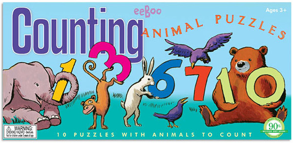 eeBoo Counting Animal Puzzles
