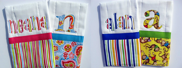 Applique Burpcloths