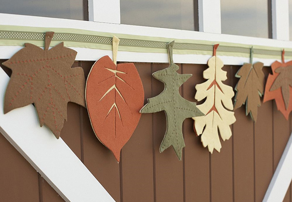 Felt Leaves Garland