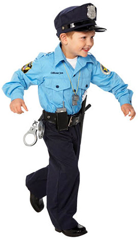 Personalized Jr. Police Officer Costume
